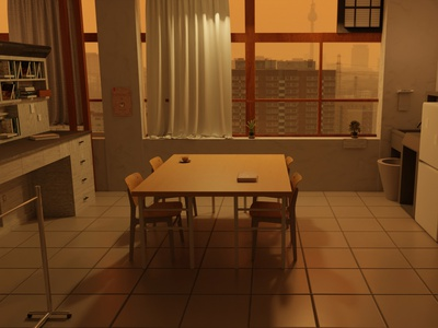 Hyouka 3D Literature Eskul Room room lightroom anime interior design interiordesign interior 3d art 3d artist