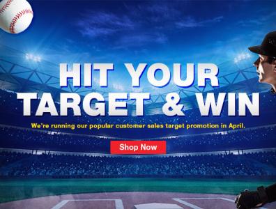 Spring Target E-Blast company branding promotional design marketing design
