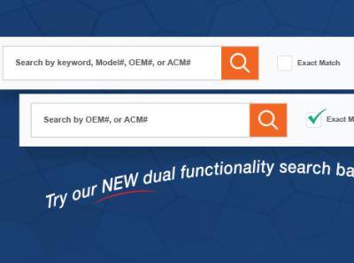 ACM - New Search Option design website update