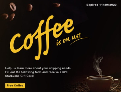 AirSaver - Free Coffee Promo branding promotional design marketing design