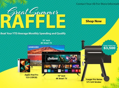 Summer Raffle social media branding promotional design marketing design