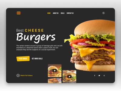 Fast Food Landing Page graphics food illustration food and drink food app trendsetter trends foody burgers fastfood food graphic design minimal trendy design trending landingpage landing page design fashion illustration fashion design branding
