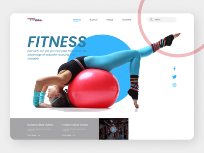Fitness Landing Page workout of the day workout exercise exercise app ux design ui design uiux uidesign trendy design branding illustration fashion illustration graphic design trending landing page design design fashion