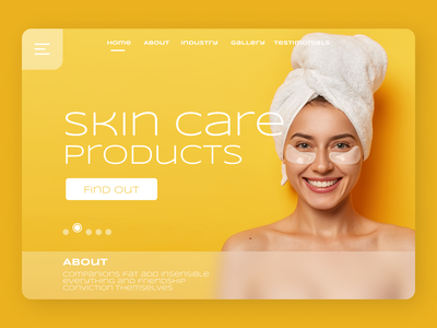 Skin care landing Page female character model website concept website design productdesign product page products skin skincare fantasy ui ux landing page design typography branding graphic design trendy design fashion fashion illustration design