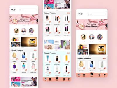 Cosmetics Application mobile app design mobile ui beauty products beauty app perfumes desiglounge logodesign cosmetics product cosmetic packaging cosmetics graphic design trending ui illustration landing page design branding trendy design fashion fashion illustration design