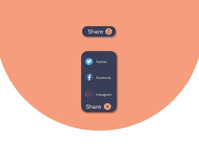 Share Button design dailyui uiuix uiuxdesign illustration ui uiux design graphic design uidesign illustrator