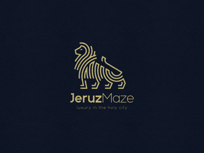 JeruzMaze Logo illustrator vector design lion jerusalem ronen cohen branding logo icon character illustration