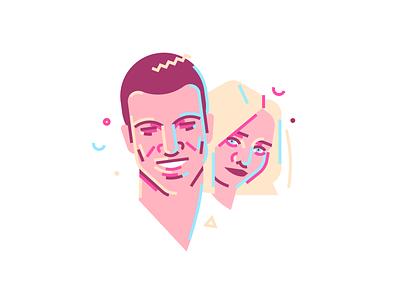 Rotem and Assi רותם סלע אסי עזר art illustrator icon minimal ronen cohen animation vector flat character illustration