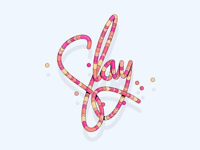 Slay 3d modeling 3d minimal illustration design icon typography ronen cohen branding typeface typogaphy type slang
