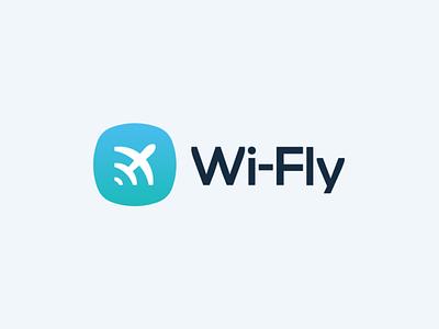 Wi-Fly Logo wifi fly logo design branding logo designer logodesign logo design icon typography logo