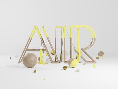 AIR illustration branding logo motion graphics graphic design 3d animation design