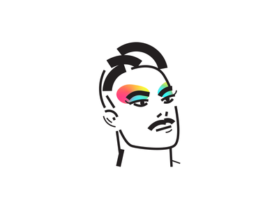 Uriel Yekutiel animation art illustrator icon minimal flat logo ronen cohen אוריאל יקותיאל gay drag vector character illustration