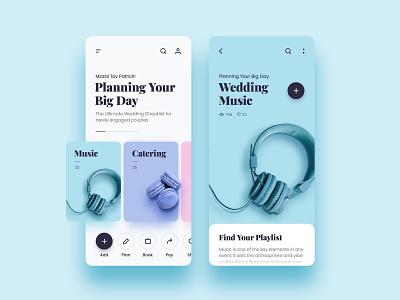 Wedd - Plan Your Wedding photoshop blue graphic design brand ios mobile art clean identity illustrator lettering type minimal website typography app ui branding ux design