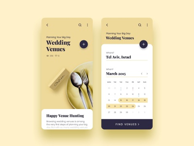 Wedd - Plan Your Wedding ronen cohen photoshop blue graphic design brand ios mobile art clean identity illustrator lettering type website typography app ui branding ux design