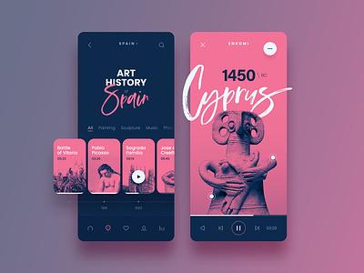 Arthisto ronen cohen type minimal website web typography app ui branding ux design