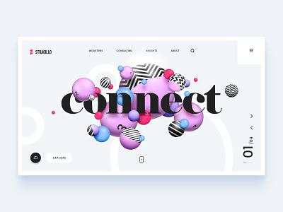 Stragillo Homepage ronen cohen 3d art 3d lettering type minimal website web typography ui ux branding design