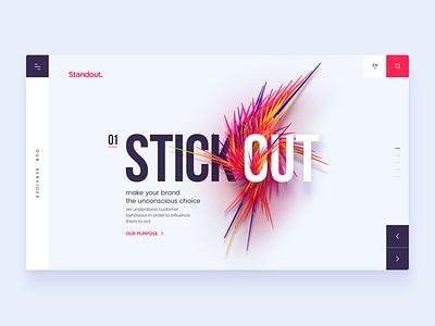 Standout Homepage ronen cohen lettering type website web typography logo ui branding ux design