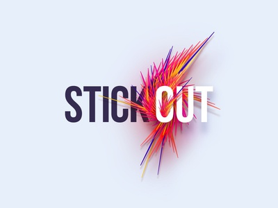 StickOut ronen cohen illustration origami animals cow india vector ui ux lettering type icon minimal design web logo typography branding character
