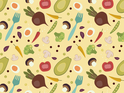 Veggies flat  design yellow bright color pattern vegetables