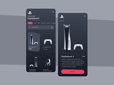 Sony PlayStation 5 online-shop (Concept) concept sony minimal app ui design