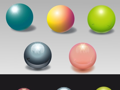 A set of three-dimensional balls made of different materials symbol textures texture balls set abstract graphic background graphic design graphicdesign design illustration vector