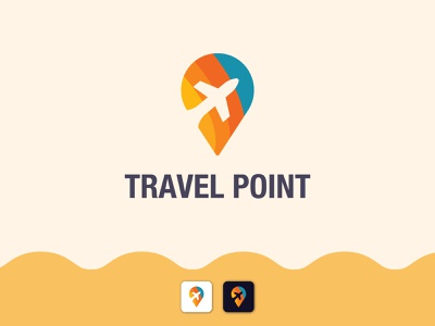 Travel Point Logo Design logotype tour travel design modern logo logo ideas logo inspirations icon vector branding mark minimal creative
