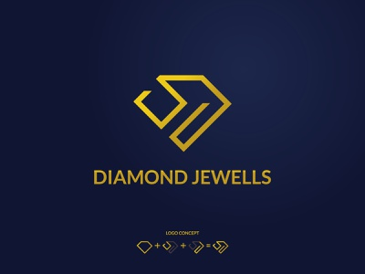 DIAMOD JEWELLS | DIAMOND SHOP LOGO DESIGN shop gold logo icon ilustration illustrator diamond shop jewellery logo luxery logo diamond logo diamond brand modern logo logo icon logo inspirations monogram logo vector branding minimal creative