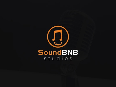 "Music logo ""SoundBNB"" logo music player music theme sound logo music logo design logo ideas logo inspirations vector branding minimal creative"