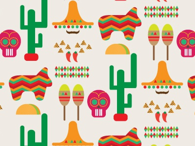 Making Patterns Makes Me Happy - #5 patterns graphic design mexican pattern colors