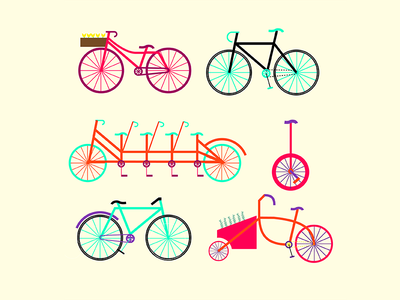 Amsterdam bike bicycle amsterdam xxx colorful vector illustration pattern happy