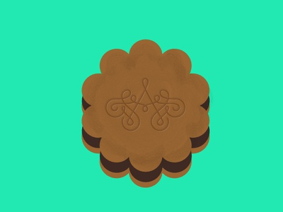 Cookie illustration cookie affinity graphic chocolate