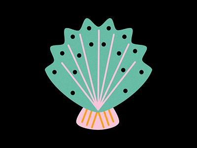 Under the sea shell color sea deep blue illustration illustrator