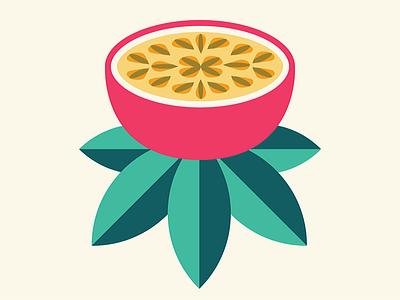 Passion Fruit fruit logo bikini tropical summer beach illustration