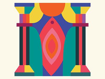Feminism & Art  feminism art theater color illustration vector
