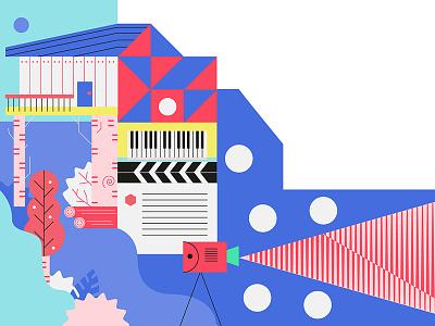 Casa da Musica Program Book cinema colors jungle piano program music
