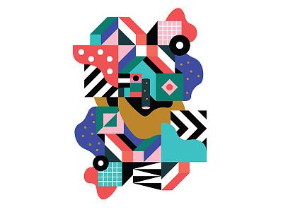 Art Print dots stripes art print artwork geo geometric colors print