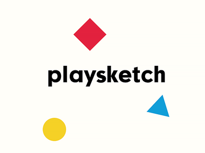 Playsketch app. drawing kids sketch play blue yellow red triangle circle square logo