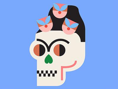 Sneak Peek restaurant illustration frida flowers patterns colors latin america skull