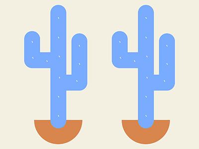 Cactus colors golden blue pattern restaurant branding latin america desert plants cactus illustration