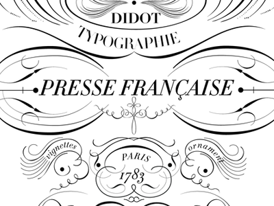 Presse Française presse typography ornament type curves white black barcelona porto photography