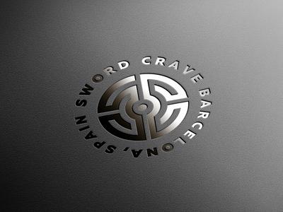 sword crave logo minimalism minimalistic minimalist logo monochrome monograms logotype monogram logo monogram logodesign design logos logo design branding and identity branding brand minimalist minimal logo