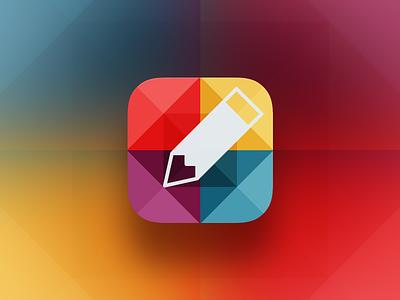 Geometric Edit @2x icon app flat ios7 colour edit glyph geometry concept idea design ios