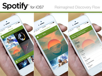 Spotify iOS7 - Re-imagined Discovery Flow @2x