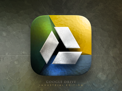 Google Drive - Industrial Edition @2x ios icon google drive industrial texture concept design