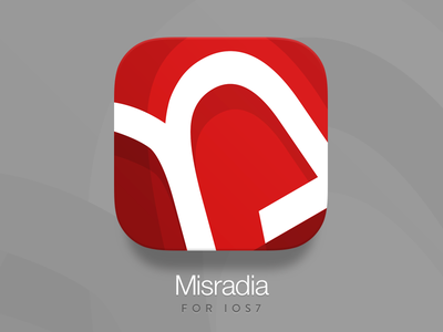 Misradia iOS7 Icon @2x app icon ios7 concept design idea flat red