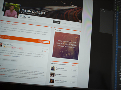 HealthBeMe - Profile Page @2x web app flat design clean light social media health icon