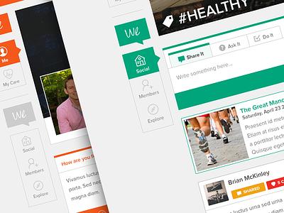 HealthBeMe @2x web app flat design clean light social media health icon