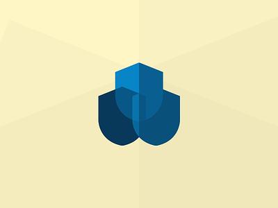 Bot Defense Logo @2x logo branding design defense web shield concept blue