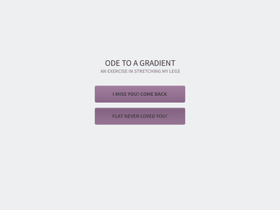 Ode to a Gradient