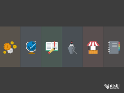 Distil - Icons WIP @2x web flat icon design concept